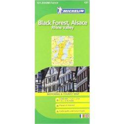 131. Foret Noire, Alsace, Rhon völgye térkép Michelin 1:200 000