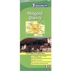 118. Périgord Quercy autós és turista térkép Michelin 1:150 000