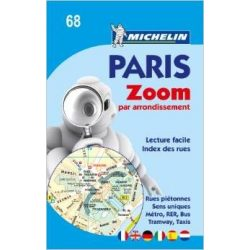 Paris par arrondissement Michelin térkép  9068. 1/10,000
