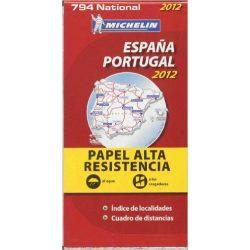 794. Spanyolország és Portugália térkép Michelin 2013 1:1 000 000