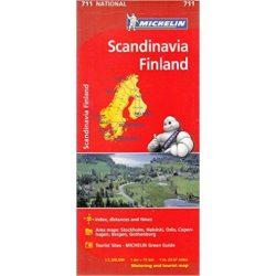 711. Skandinávia, Finland térkép Michelin 1:1 500 000