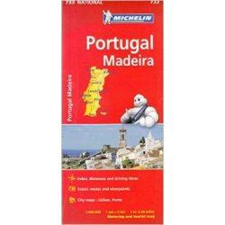 733. Portugália térkép Michelin 1:400 000