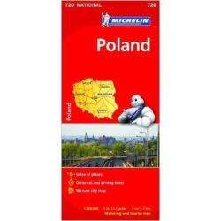 720. Lengyelország térkép Michelin 2017 1:700 000