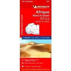 741. Észak-Nyugat Afrika térkép Michelin 1:4 000 000  2019