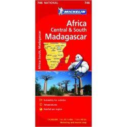 746. Dél-Afrika térkép, Africa Central & South, Madagascar térkép Michelin  1:4 000 000