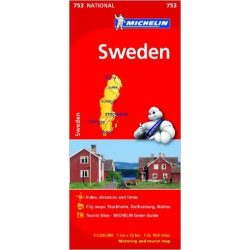 753. Svédország térkép Michelin 2011 1:1 200 000