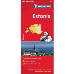 782. Észtország térkép Michelin 1:350 000  Estonia térkép