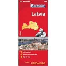 783. Lettország térkép Michelin  1:350 000