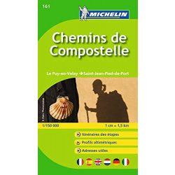 161. Chemins de Compostella térkép Michelin 2014 1:150 000