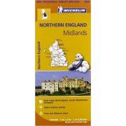 502. Nothern England térkép, The Midlands térkép Michelin 1:400 000  2017