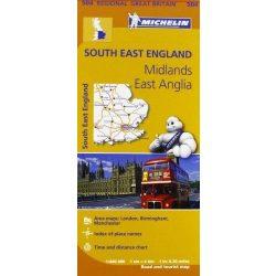 504. South East England térkép Michelin 2016 1:400 000