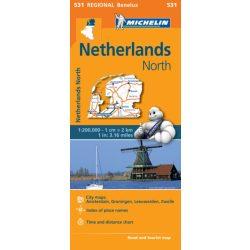 531. Nord-Nederland térkép Michelin 1:200 000  Észak Hollandia térkép