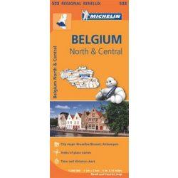 533. Észak és Közép Belgium térkép Michelin 1:200 000