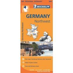 541. Észak-nyugat Németország térkép Michelin 1:350 000