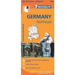 542.Észak-Kelet Németország térkép Michelin 1:350 000