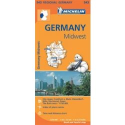543. Közép-nyugat Németország térkép Michelin 1:350 000