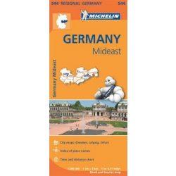 544. Közép-kelet Németország térkép Michelin 2013 1:300 000