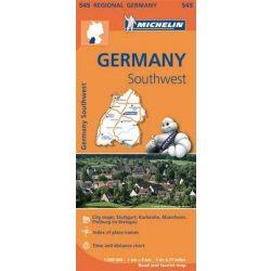 545. Dél-nyugat Németország, Bavaria térkép Michelin 1:300 000