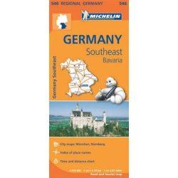 546. Dél-kelet Németország, Bajorország térkép Michelin 2013 1:375 000