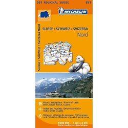 551. Svájc észak térkép Michelin 1:200 000
