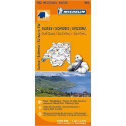 552. Svájc dél-nyugat térkép Michelin  1:400 000  2015