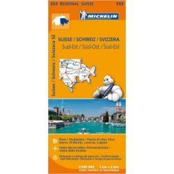 553. Svájc dél-kelet térkép Michelin  1:400 000