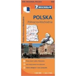 555. Lengyelország észak-kelet térkép Michelin 2015 1:300 000