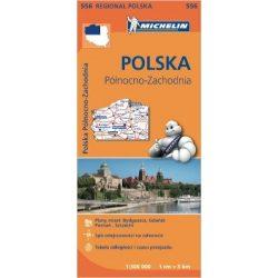 556. Lengyelország észak-nyugat térkép Michelin  1:300 000
