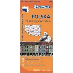 557. Lengyelország dél-nyugat térkép Michelin  1:300 000