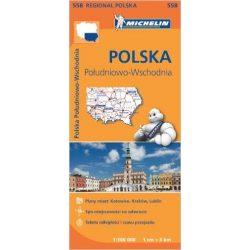 558. Lengyelország dél-kelet térkép Michelin 2015 1:300 000