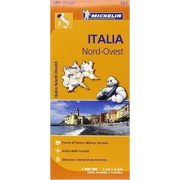 561. Olaszország észak-nyugat térkép Michelin 1:400 000  2016
