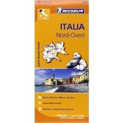 561. Olaszország észak-nyugat térkép Michelin 1:400 000