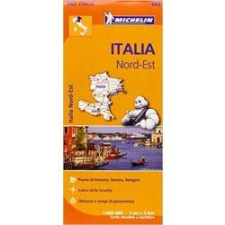 562. Észak-kelet Olaszország térkép Michelin 2016 1:400 000