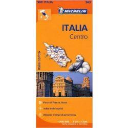 563. Közép-Olaszország térkép Michelin 1:400 000