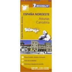 572. Asturias, Cantabria térkép Michelin 1:250 000