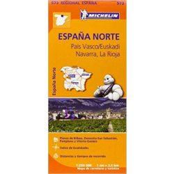 573. Észak Spanyolország térkép País Vasco, Navarra, Rioja térkép Michelin 1:250 000