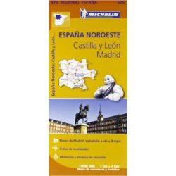 575. Castilla y León, Madrid térkép Michelin 1:400 000