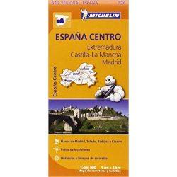 576. Extremadura Castilla-La Mancha, Madrid térkép Michelin 1:400 000