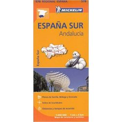 578. Andalúzia térkép Michelin 1:400 000  2017