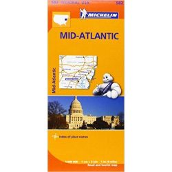 582. Mid-Atlantic USA, Allegheny Highlands térkép Michelin 2013 1:500 000