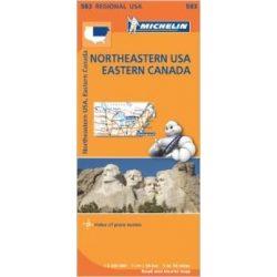 583. Northeastern USA térkép, Eastern Canada Michelin 1:2 400 000