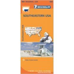 584. Southeastern USA térkép Michelin 2015 1:2 400 000