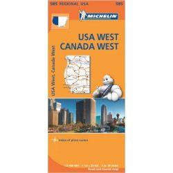 585. USA west térkép Michelin 1:2 400 000 Nyugat USA térkép