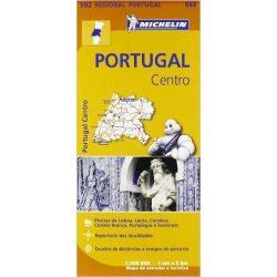 592. Közép-Portugália térkép Michelin 1:300 000  2017