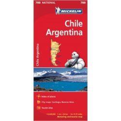788. Chile térkép Michelin  1:2 000 000  2015 Argentina térkép