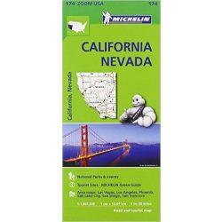 174. Kalifornia térkép California, Nevada térkép Michelin 2016   1:1 267 200