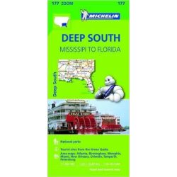 177. Deep South térkép Michelin 2013 1: 1267 200