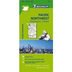 171. Pacific Northwest térkép Michelin 1: 1267 200