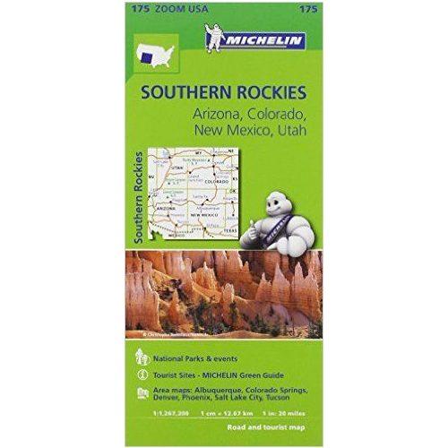 térkép center 175. Southern Rockies térkép Michelin 2014 1:1 267 200   Térkép  térkép center