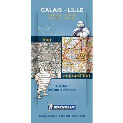 1913-2013 Series Calais - Lille térkép  8001. 1/200,000